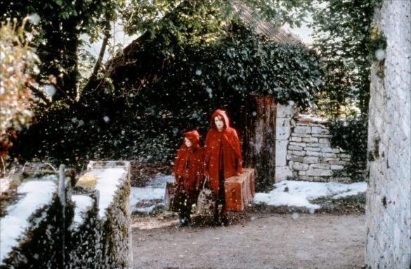 Mama y niña, viajando. Chocolat (2000).